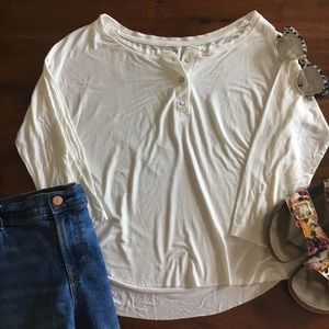American Eagle Button Front Soft & Sexy T-Shirt